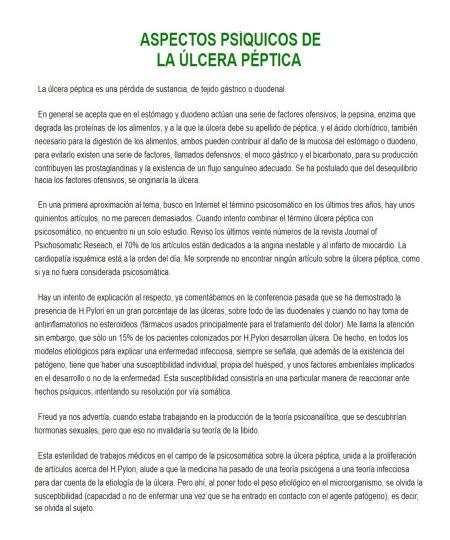 ASPECTOS PSÍQUICOS DE LA ÚLCERA PÉPTICA