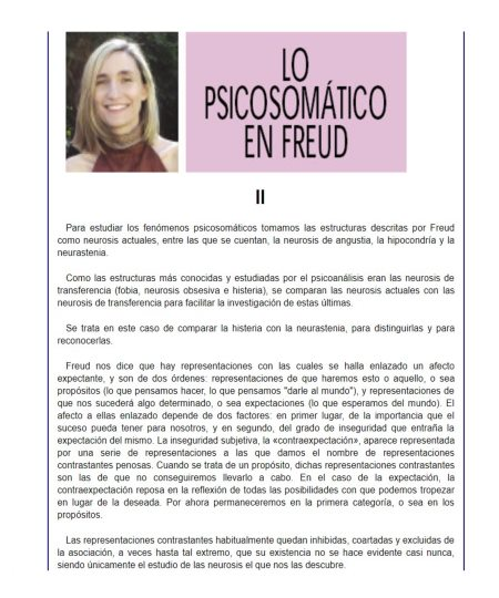 LO PSICOSOMÁTICO EN FREUD II