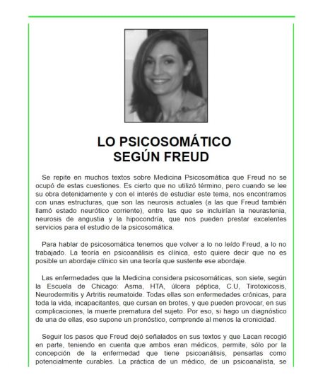 LO PSICOSOMÁTICO SEGÚN FREUD