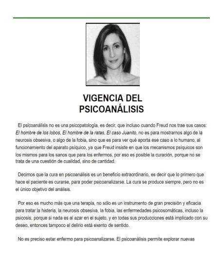 VIGENCIA DEL PSICOANÁLISIS II